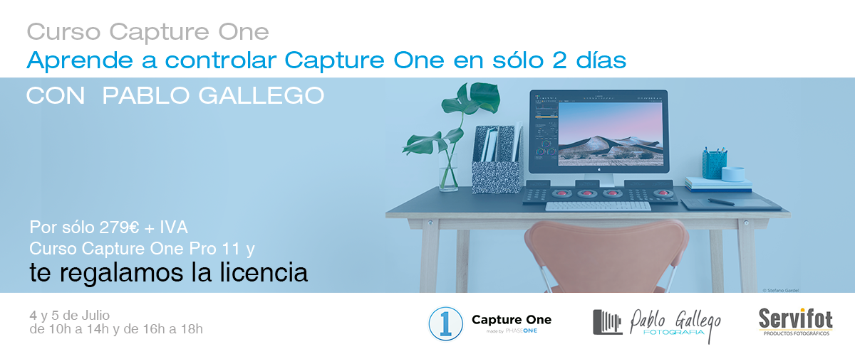 Curso Capture One con Pablo Gallego Fotografía, 4 y 5 de Julio 2018, Hotel Silken, Valencia.
