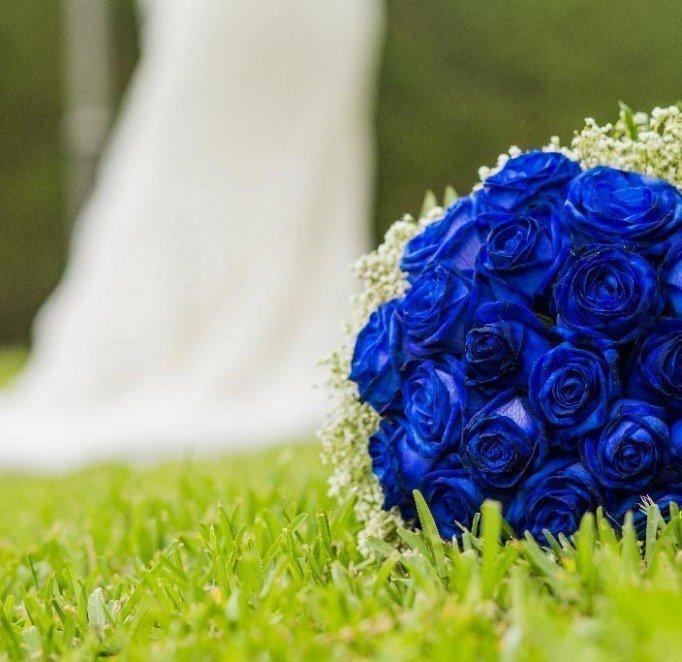 Cómo teñir un ramo de rosas en color azul – Adornos florales de novias originales – Hazlo tú mismo – DIY